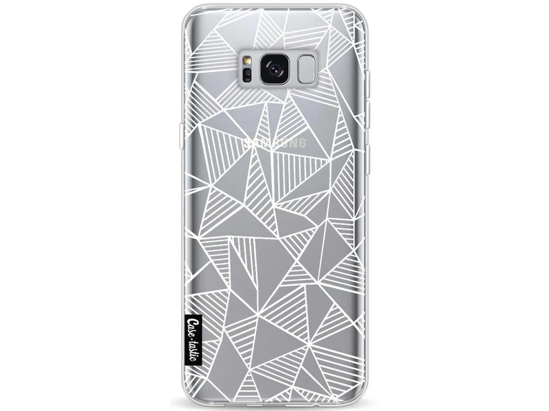 Casetastic Softcover Samsung Galaxy S8 Plus - Abstraction Lines White Transparent