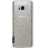 Casetastic Softcover Samsung Galaxy S8 Plus - Abstraction Outline Gold Transparent