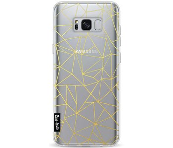 Abstraction Outline Gold Transparent - Samsung Galaxy S8 Plus