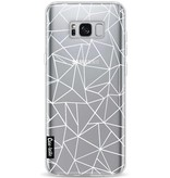 Casetastic Softcover Samsung Galaxy S8 Plus - Abstraction Outline White Transparent