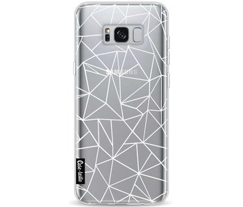 Abstraction Outline White Transparent - Samsung Galaxy S8 Plus