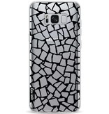 Casetastic Softcover Samsung Galaxy S8 Plus - British Mosaic Black Transparent