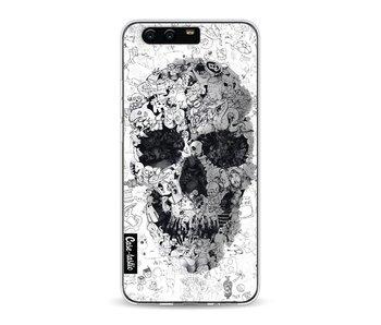 Doodle Skull BW - Huawei P10