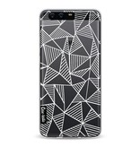Casetastic Softcover Huawei P10 - Abstraction Lines White Transparent