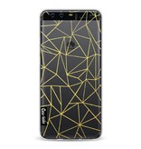 Casetastic Softcover Huawei P10 - Abstraction Outline Gold Transparent
