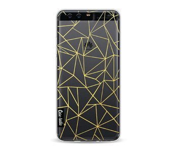 Abstraction Outline Gold Transparent - Huawei P10