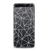 Casetastic Softcover Huawei P10 - Abstraction Outline White Transparent