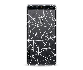 Abstraction Outline White Transparent - Huawei P10
