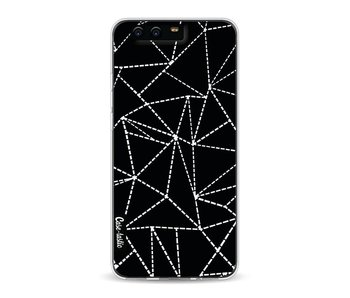 Abstract Dotted Lines Black - Huawei P10