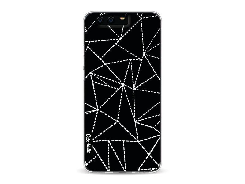Casetastic Softcover Huawei P10 - Abstract Dotted Lines Black