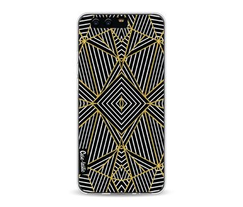 Abstraction Half Gold - Huawei P10