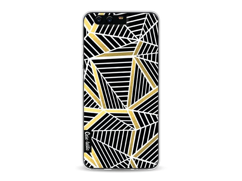 Casetastic Softcover Huawei P10 - Abstraction Lines Black Gold
