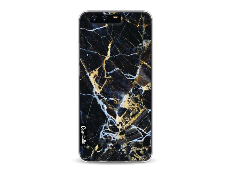 Casetastic Softcover Huawei P10 - Black Gold Marble