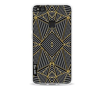 Abstraction Half Gold - Huawei P10 Lite