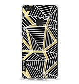 Casetastic Softcover Huawei P10 Lite - Abstraction Lines Black Gold