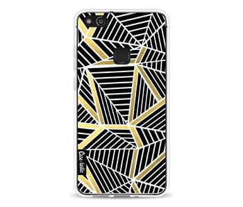 Abstraction Lines Black Gold - Huawei P10 Lite