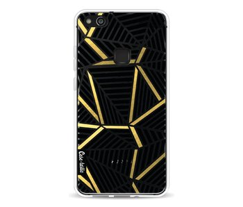 Abstraction Lines Black Gold Transparent - Huawei P10 Lite