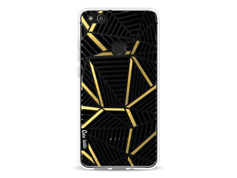 Casetastic Softcover Huawei P10 Lite - Abstraction Lines Black Gold Transparent