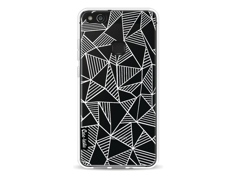 Casetastic Softcover Huawei P10 Lite - Abstraction Lines White Transparent