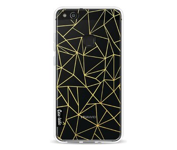 Abstraction Outline Gold Transparent - Huawei P10 Lite