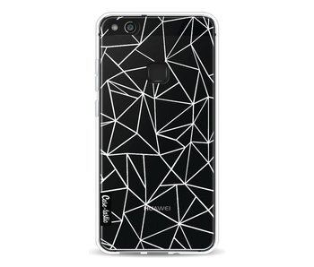 Abstraction Outline White Transparent - Huawei P10 Lite