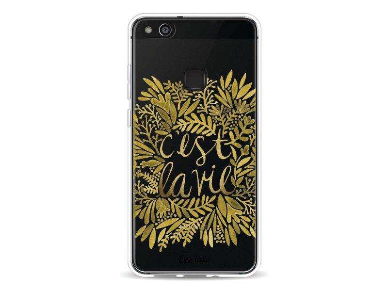 Casetastic Softcover Huawei P10 Lite - Cest La Vie Gold