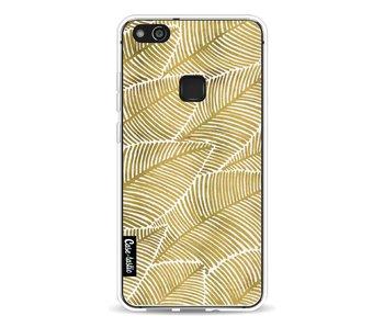 Tropical Leaves Gold - Huawei P10 Lite