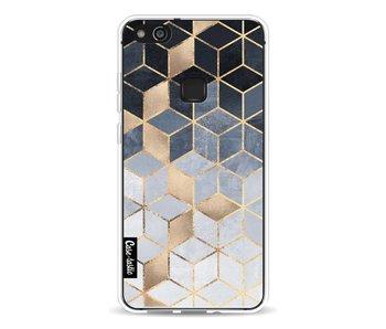 Soft Blue Gradient Cubes - Huawei P10 Lite