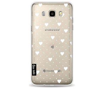 Pin Point Hearts White Transparent - Samsung Galaxy J5 (2016)