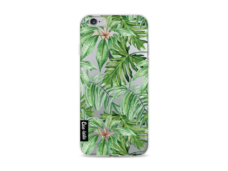 Casetastic Softcover Apple iPhone 6 / 6s - Transparent Leaves