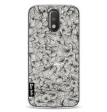 Casetastic Softcover Motorola Moto G4 / G4 Plus - Abstract Pattern Black