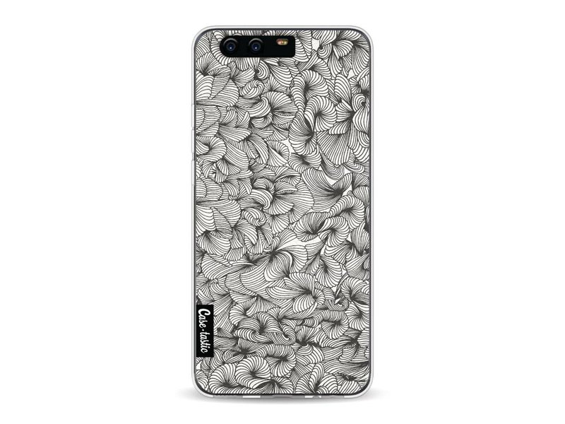 Casetastic Softcover Huawei P10 - Abstract Pattern Black