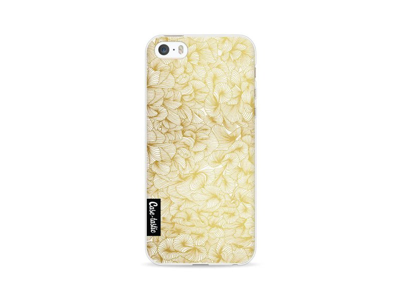 Casetastic Softcover Apple iPhone 5 / 5s / SE - Abstract Pattern Gold