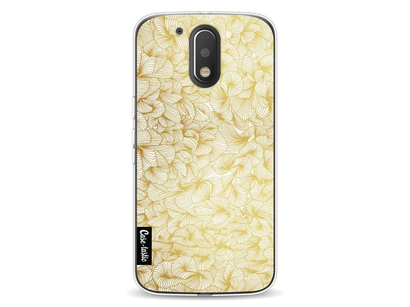 Casetastic Softcover Motorola Moto G4 / G4 Plus - Abstract Pattern Gold