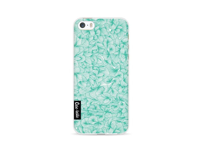 Casetastic Softcover Apple iPhone 5 / 5s / SE - Abstract Pattern Turquoise