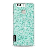 Casetastic Softcover Huawei P9  - Abstract Pattern Turquoise