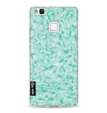 Casetastic Softcover Huawei P9 Lite - Abstract Pattern Turquoise
