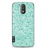 Casetastic Softcover Motorola Moto G4 / G4 Plus - Abstract Pattern Turquoise