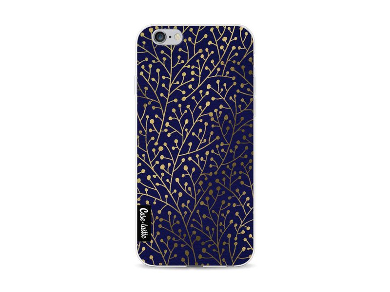 Casetastic Softcover Apple iPhone 6 / 6s - Berry Branches Navy Gold