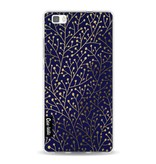 Casetastic Softcover Huawei P8 Lite - Berry Branches Navy Gold