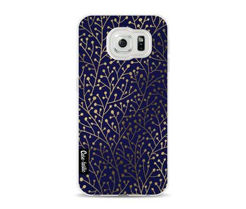Berry Branches Navy Gold - Samsung Galaxy S6