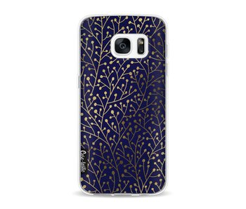 Berry Branches Navy Gold - Samsung Galaxy S7