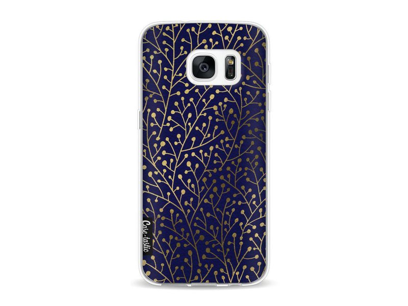 Casetastic Softcover Samsung Galaxy S7 - Berry Branches Navy Gold