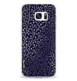 Casetastic Softcover Samsung Galaxy S7 Edge - Berry Branches Navy Gold