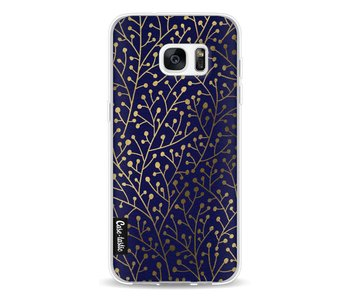 Berry Branches Navy Gold - Samsung Galaxy S7 Edge