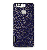 Casetastic Softcover Huawei P9  - Berry Branches Navy Gold