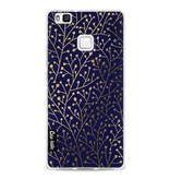 Casetastic Softcover Huawei P9 Lite - Berry Branches Navy Gold