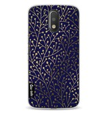 Casetastic Softcover Motorola Moto G4 / G4 Plus - Berry Branches Navy Gold