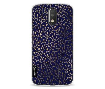 Berry Branches Navy Gold - Motorola Moto G4 / G4 Plus