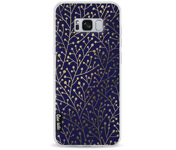 Berry Branches Navy Gold - Samsung Galaxy S8 Plus